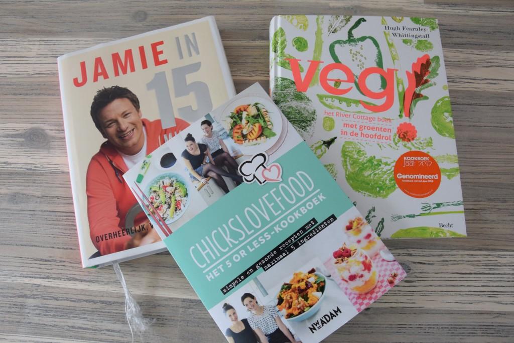 Drie van mijn favoriete kookboeken.