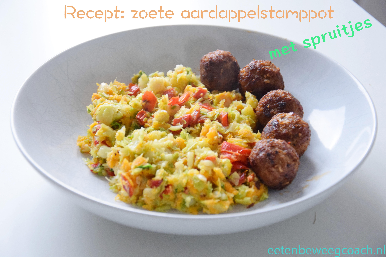 Herfst recepten #2 – Zoete aardappelstamppot met spruitjes
