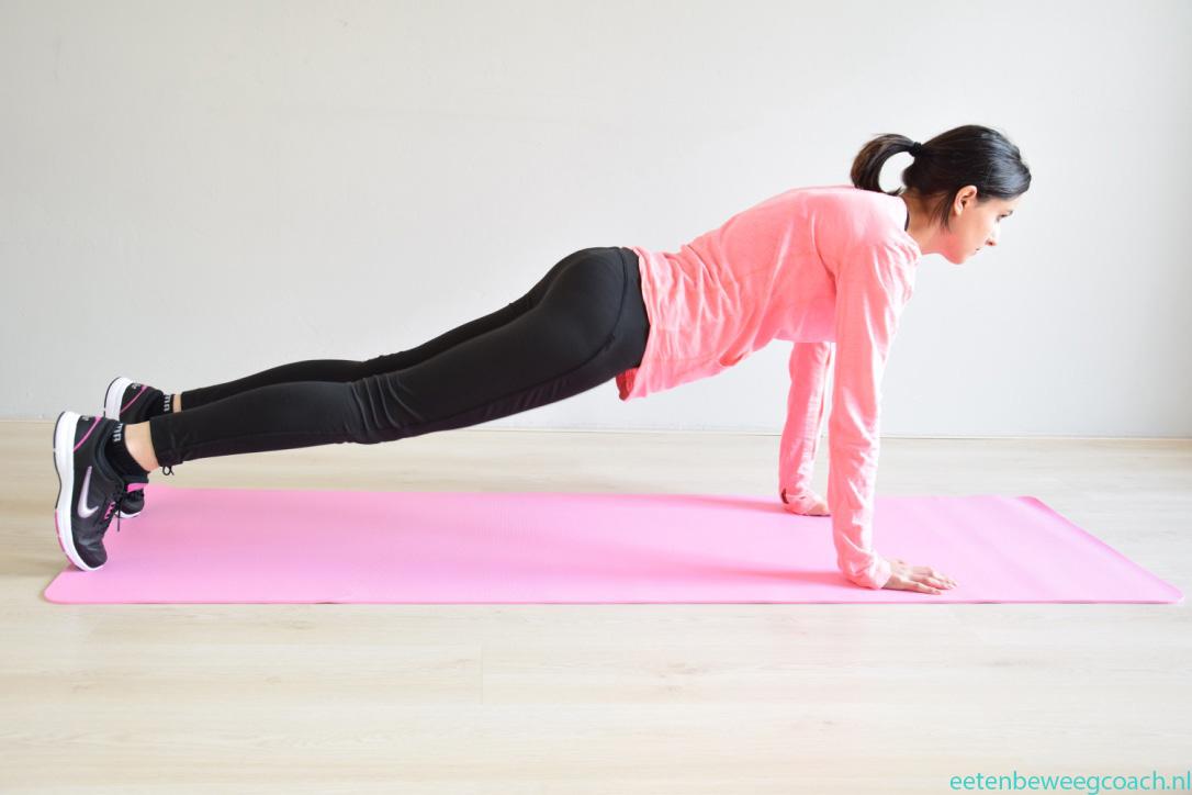 Fitness oefening borst